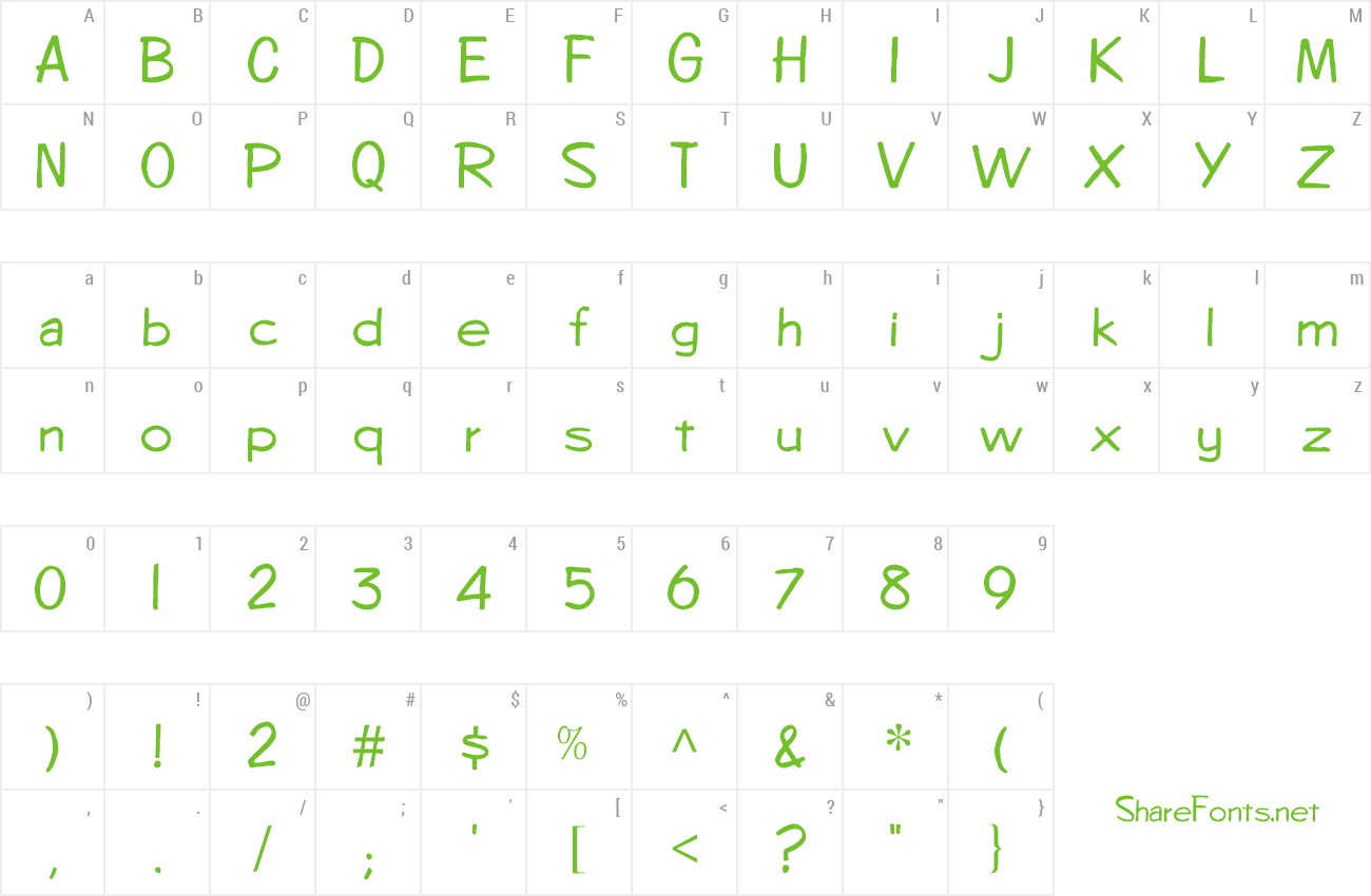 Font Answer Hunt preview
