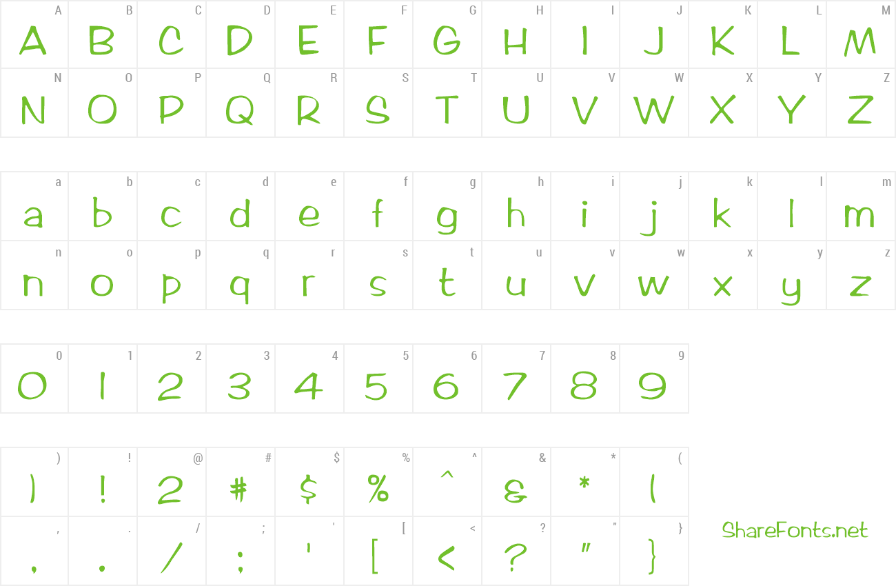Font Artix Becker preview
