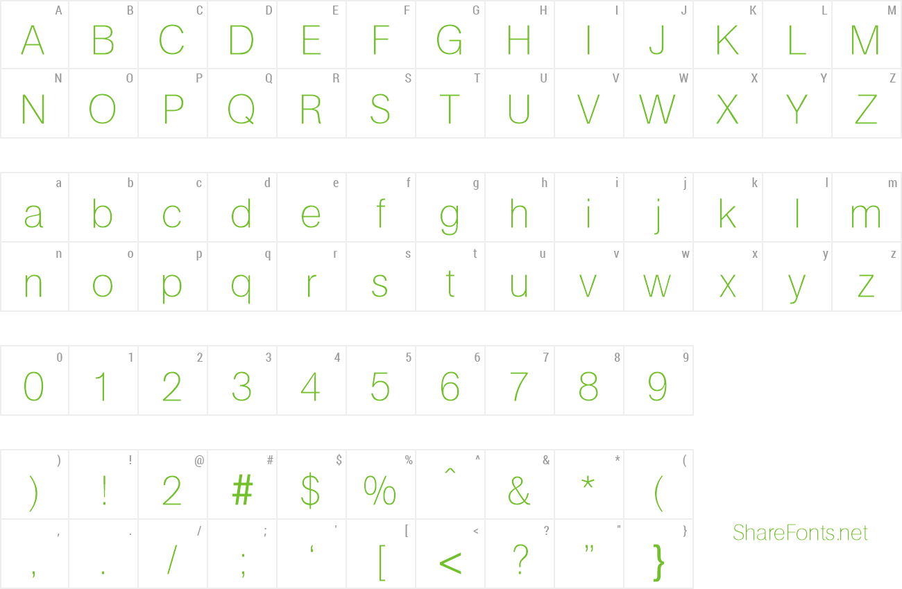 Font AtkinsUltraLight preview