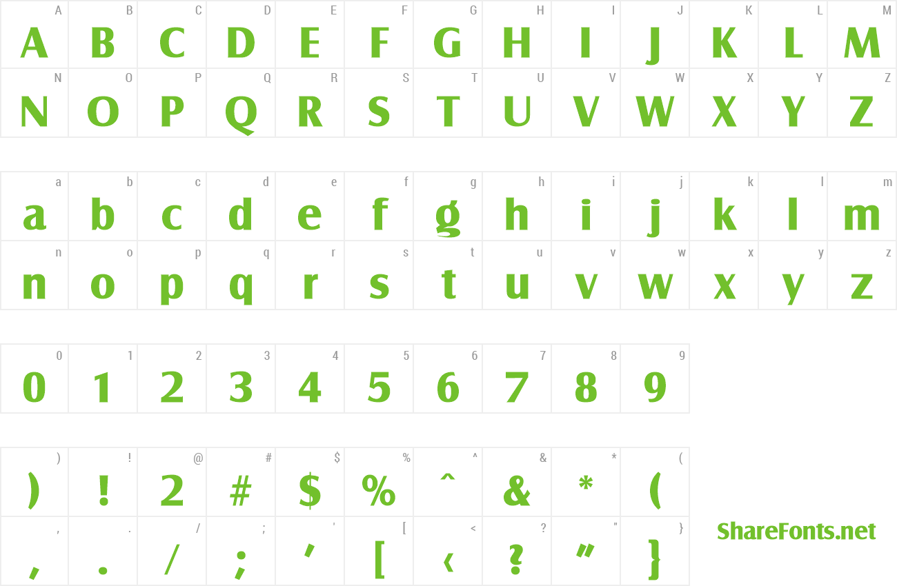 Font Salzburg-Serial-ExtraBold preview