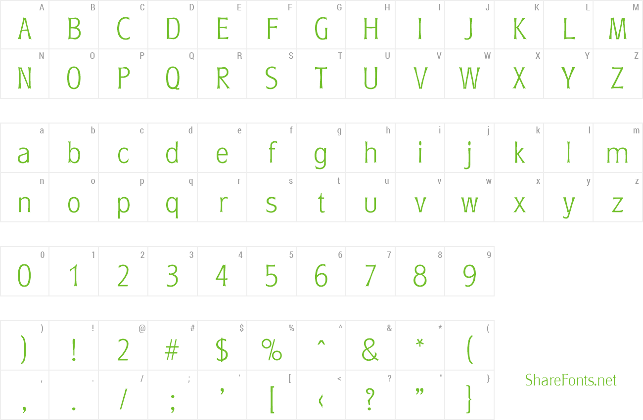 Font Roundest-Serial-ExtraLight preview