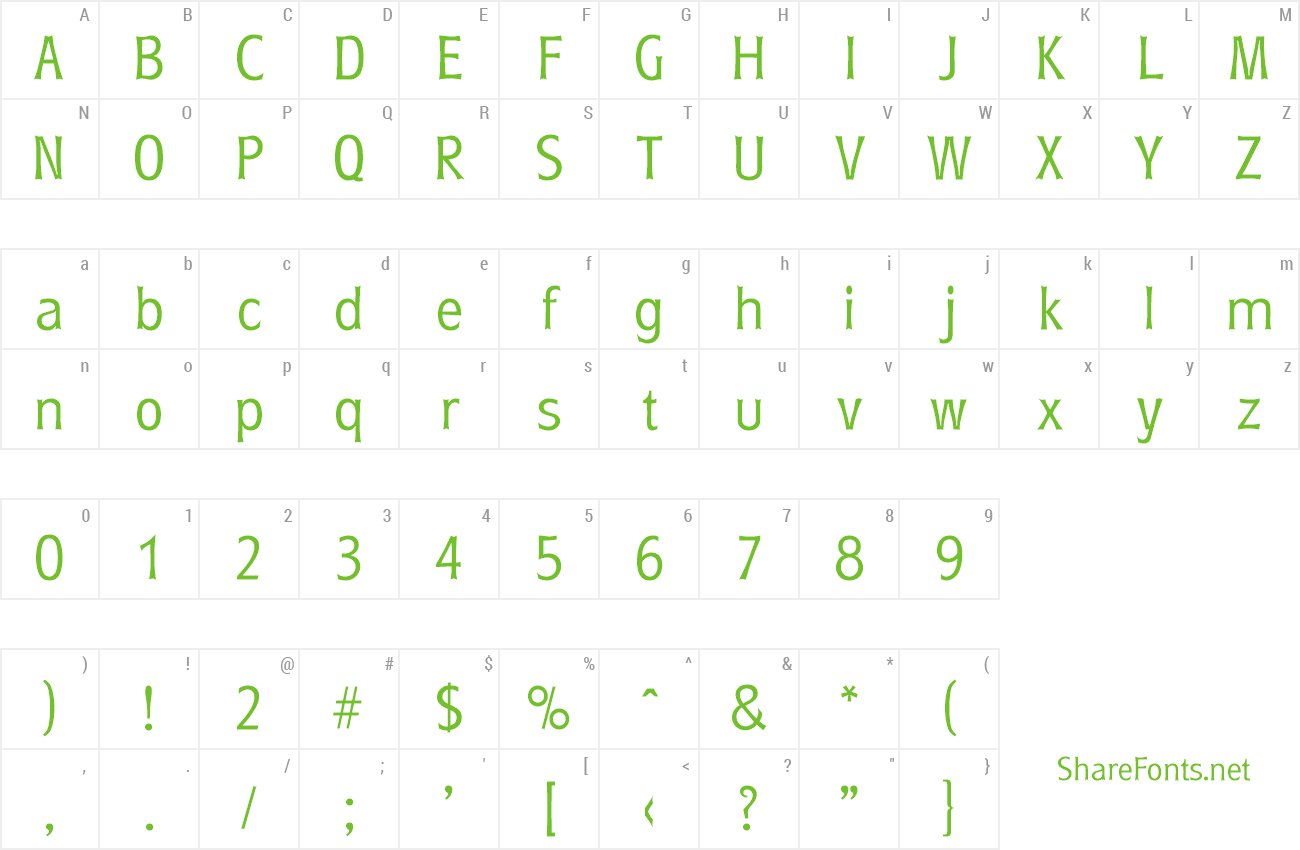 Font Roundest-Serial-Light preview