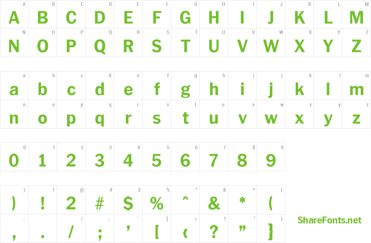 Font Plymouth-Serial-ExtraBold preview