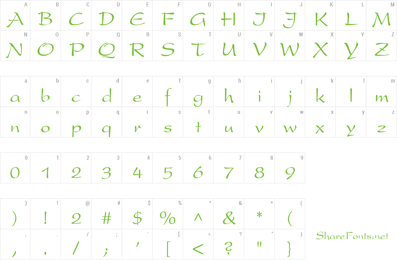 Font PrestonScript preview