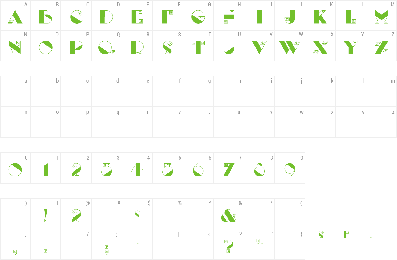 Font Labyrinth preview