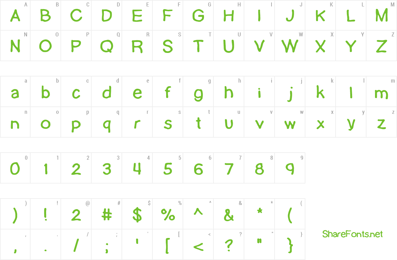 Font Lamebrain preview