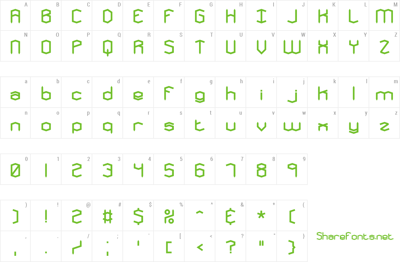 Font Mysterons preview