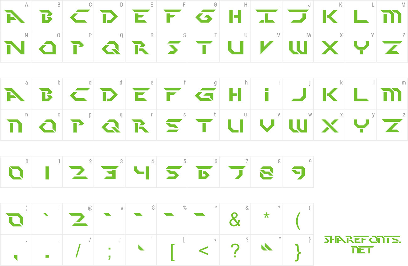 Font Perfect Dark preview