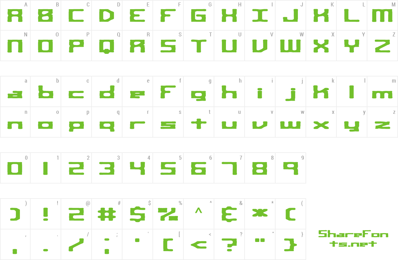 Font Square Route preview