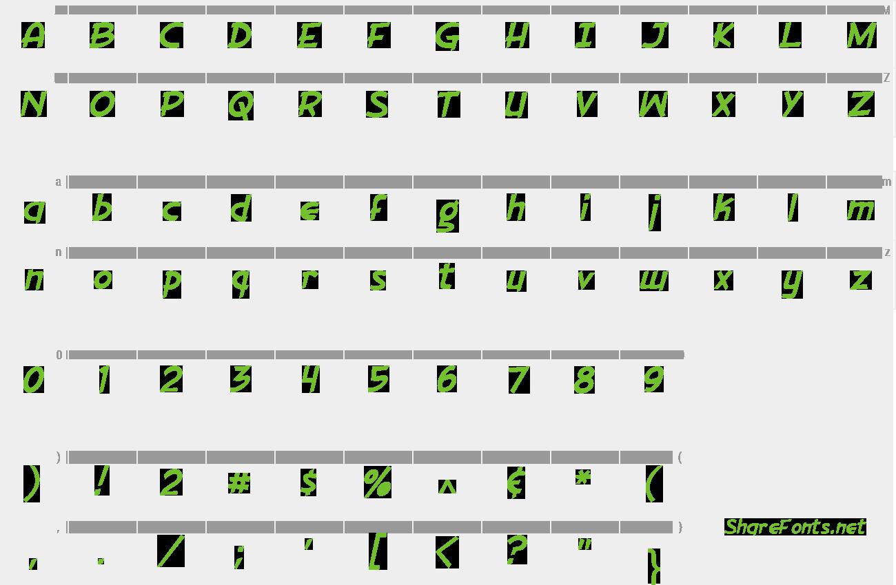 Download Free Font Gorilla Milkshake