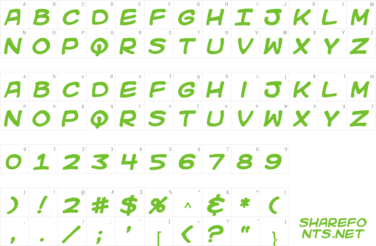 Font Kid Kosmic preview