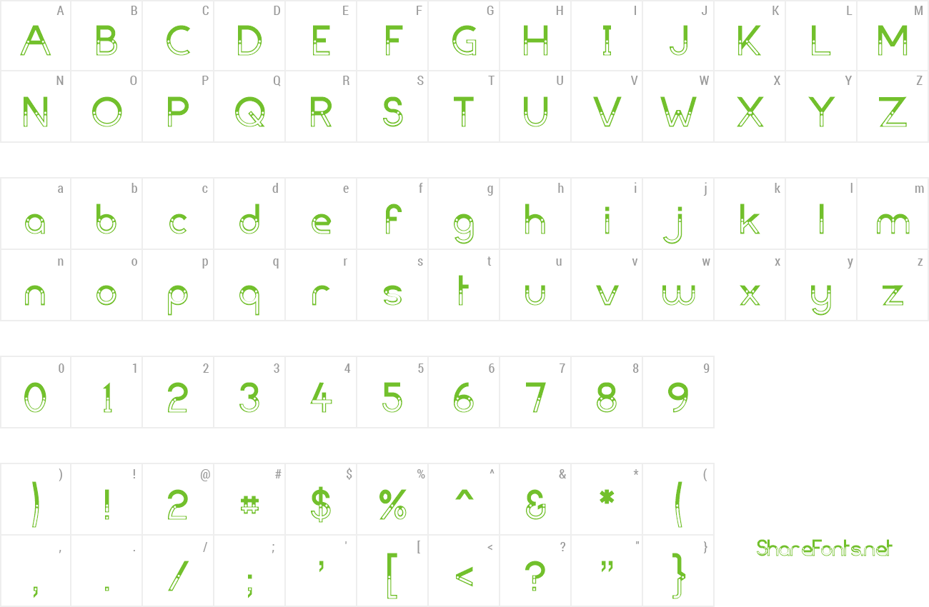 Font Dark Bastion preview