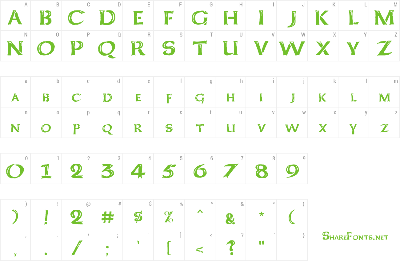 Font Kelt Caps Freehand preview
