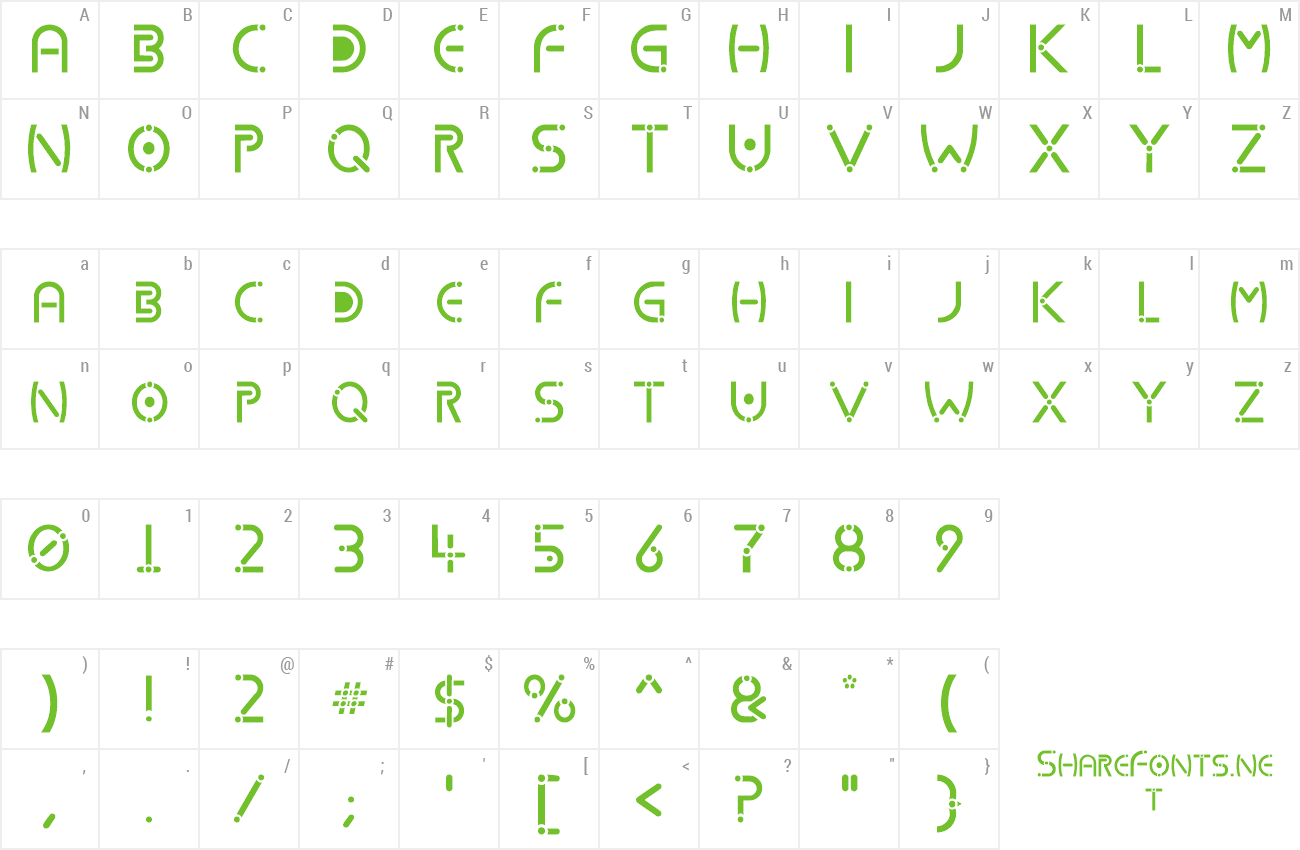Font Kharnorric preview