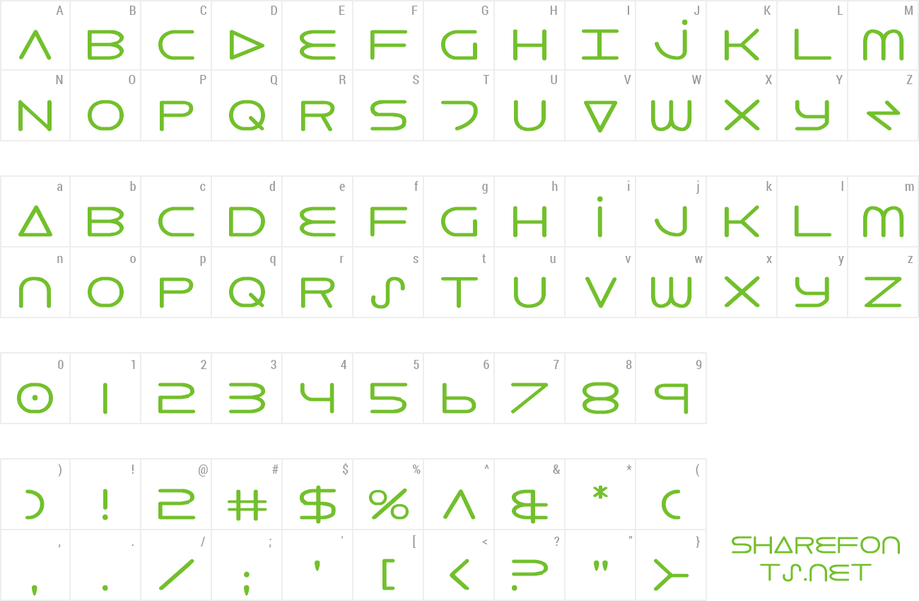 Font 8th Element preview