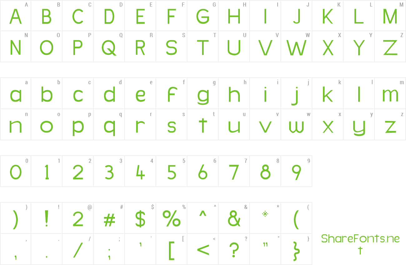 Font Simpleman preview