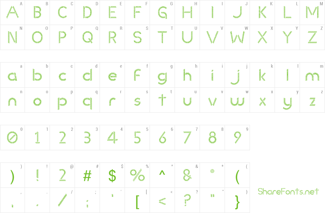 Font Slinked preview