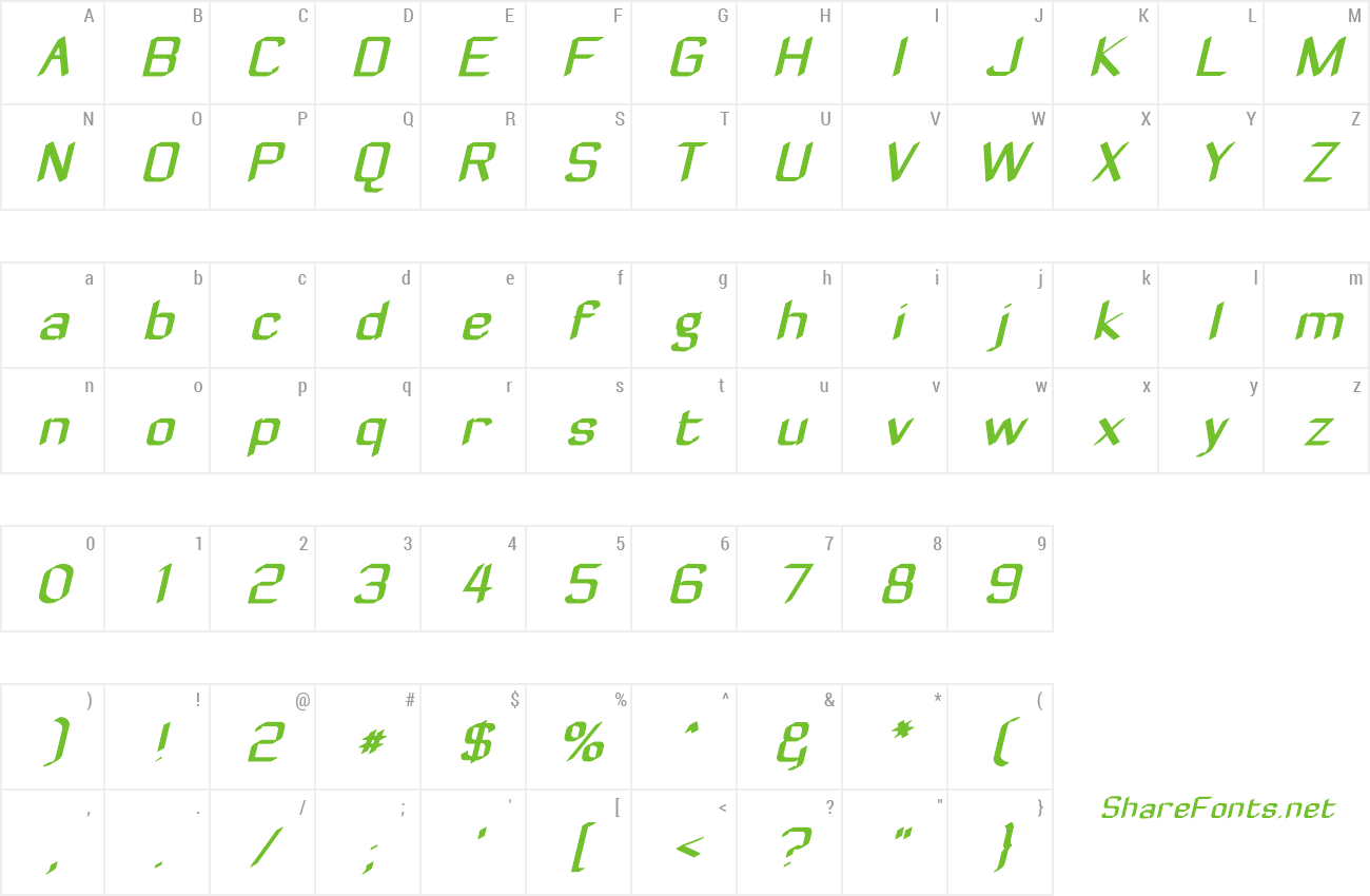 Font Zyphyte preview