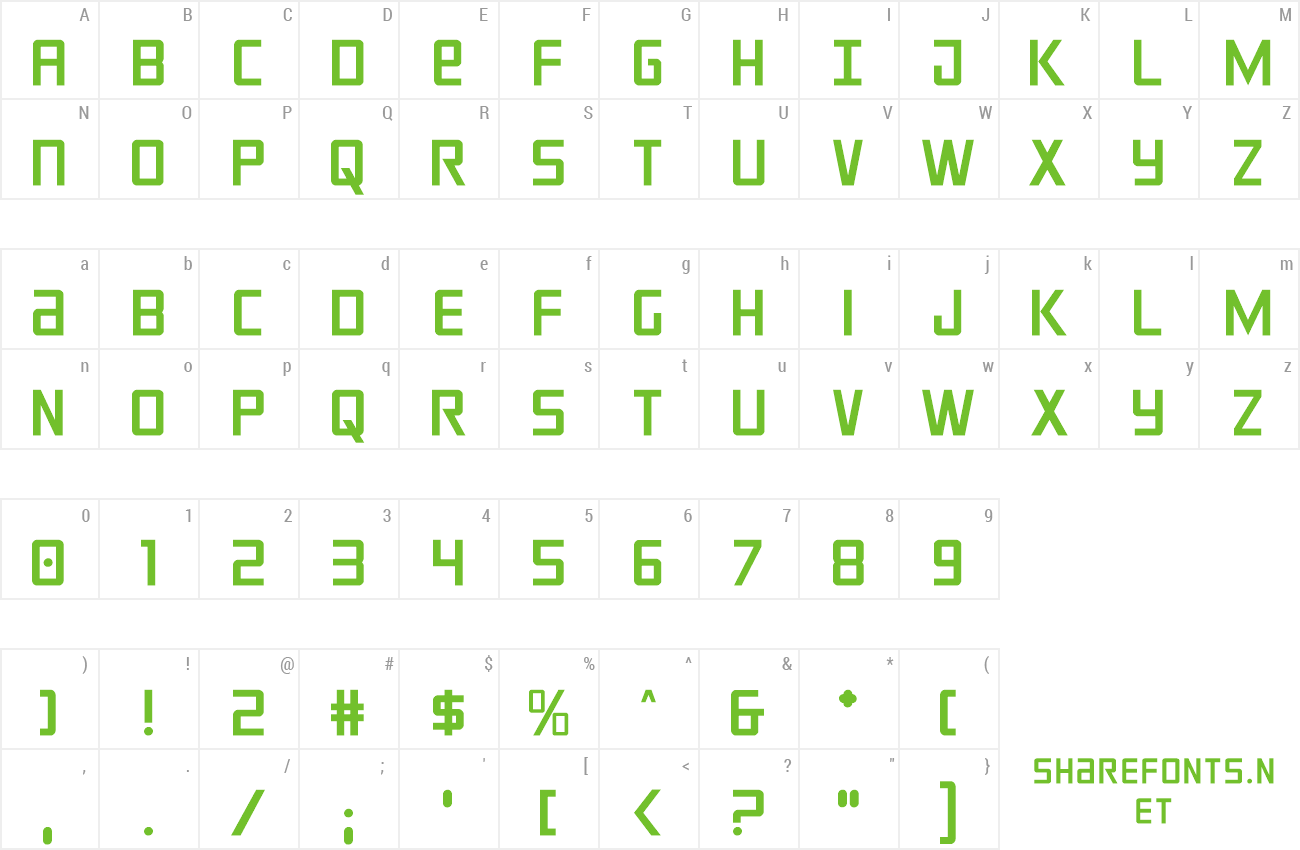 Font Crixus preview