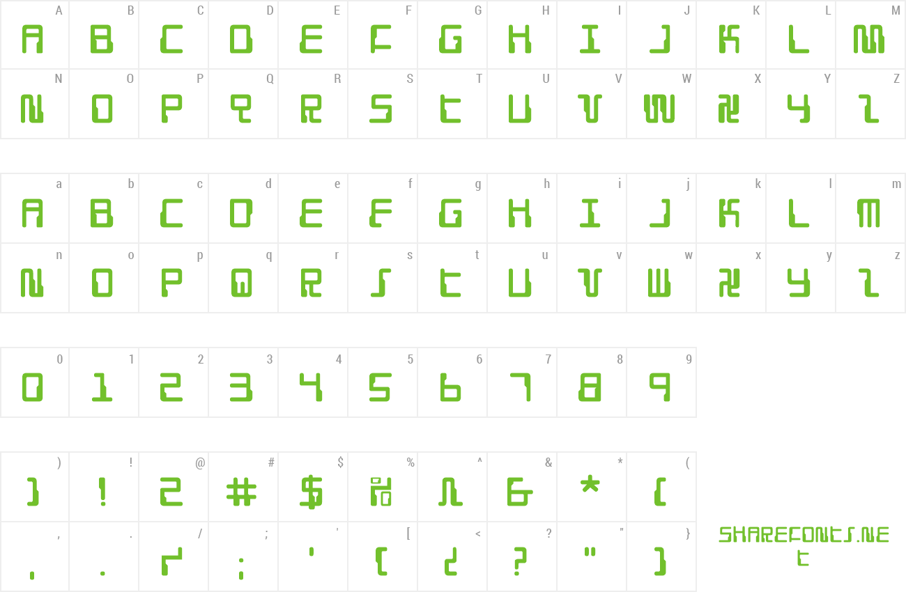 Font Droid Lover preview