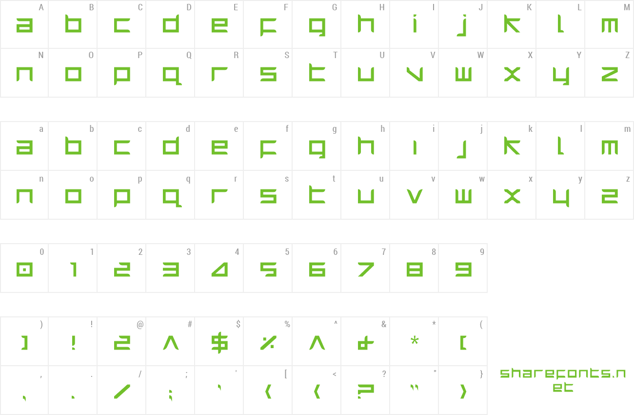 Font Harrier preview