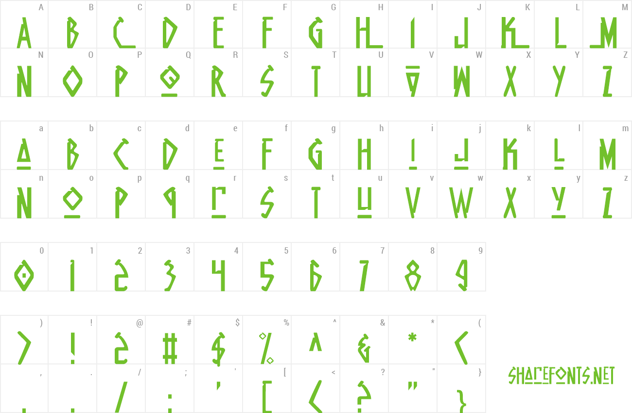 Font Native Alien preview