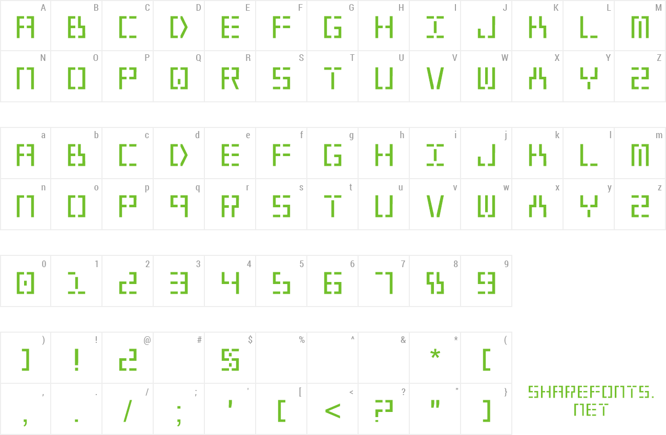 Font Year 2000 preview