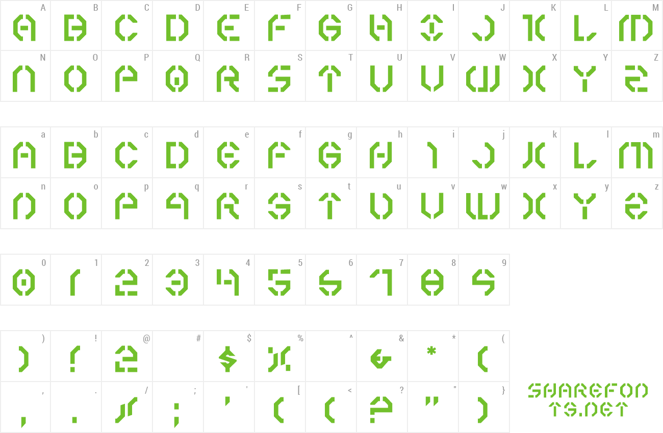 Font Year 3000 preview