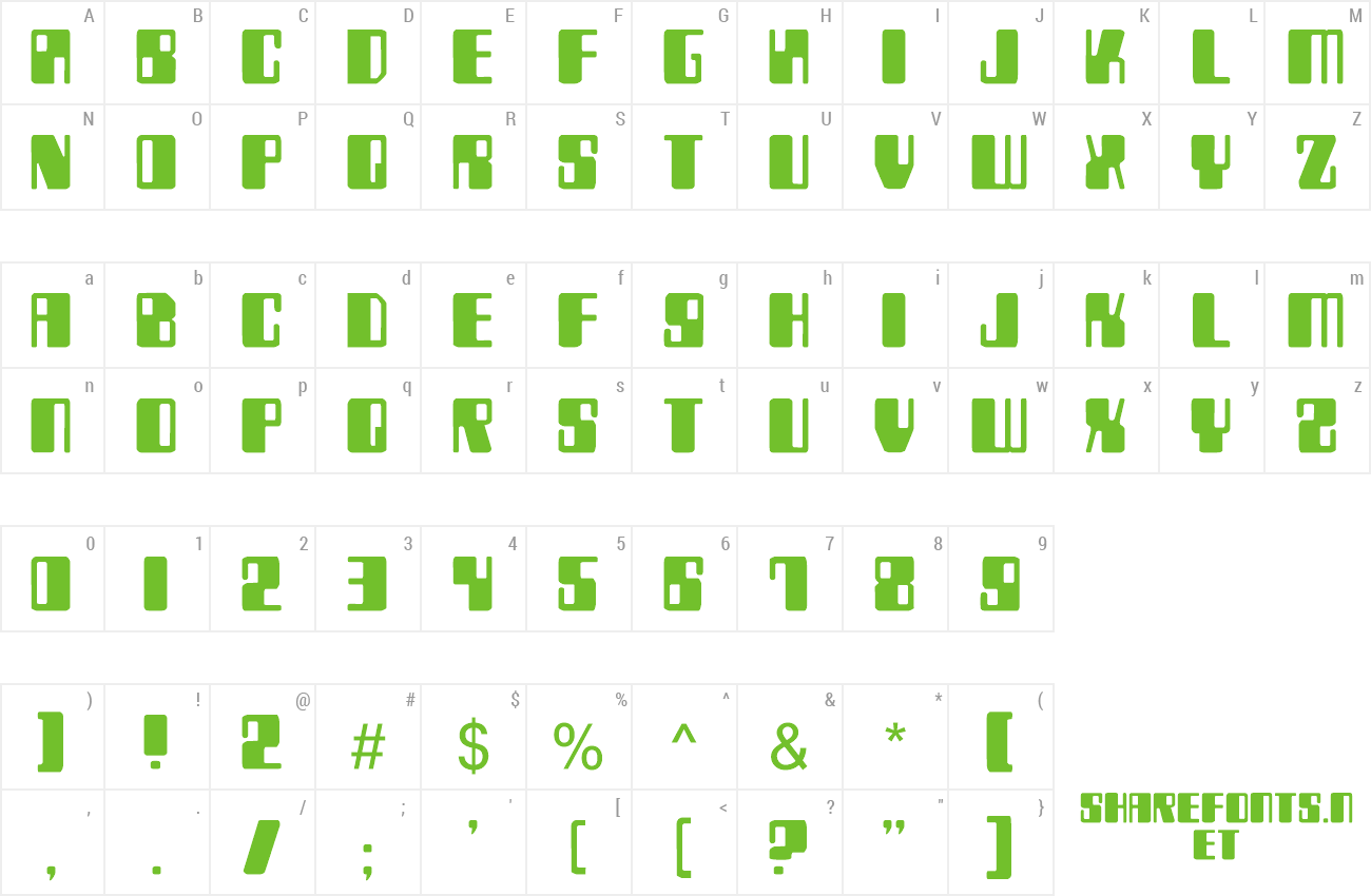 Font Zyborgs preview