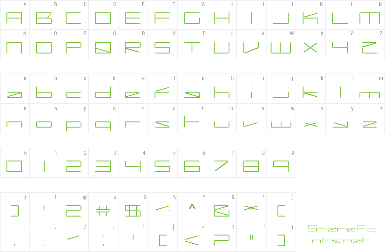 Font Capacitor preview