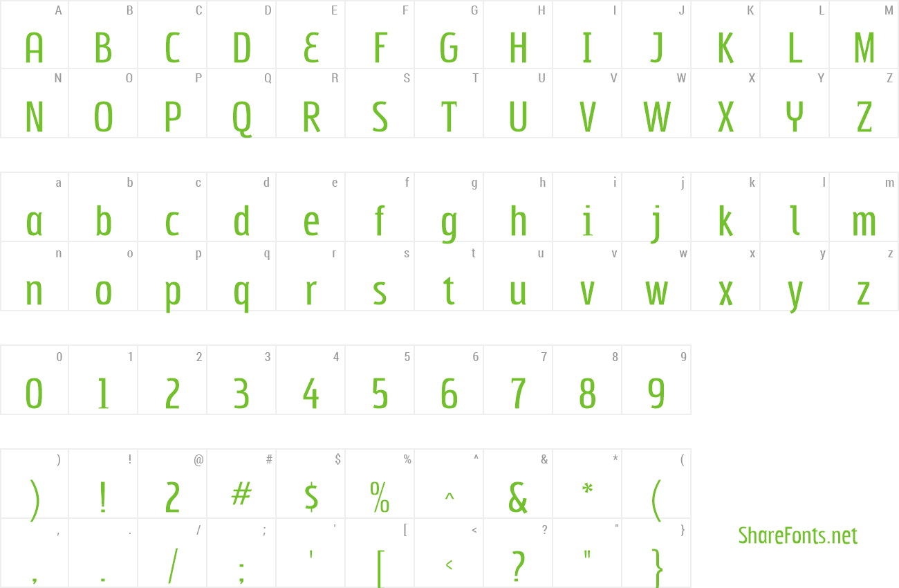 Font Subpear preview