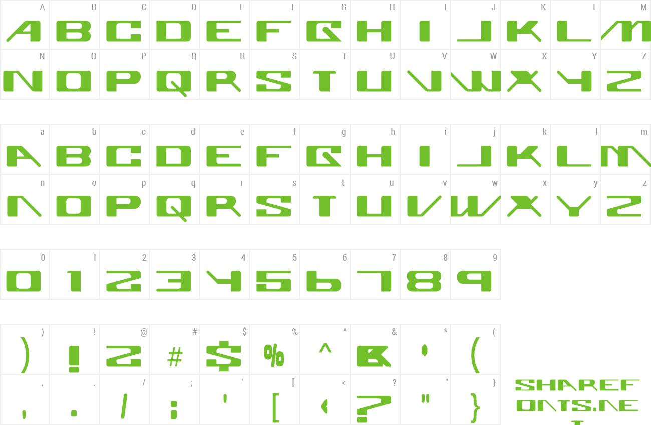 Font Superglue preview