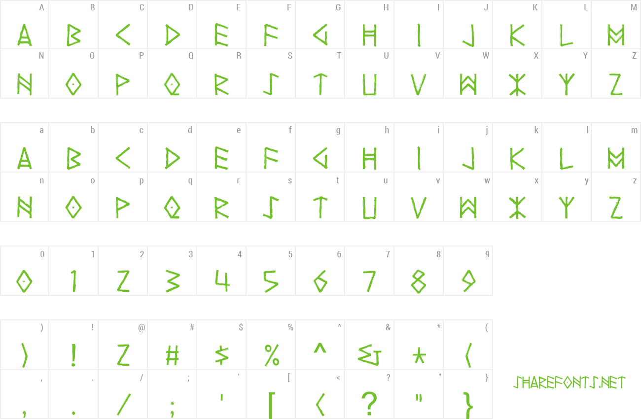 Font Yggdrasil preview