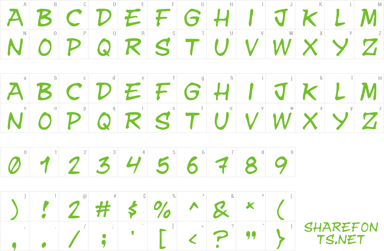 Font YNWUAY preview