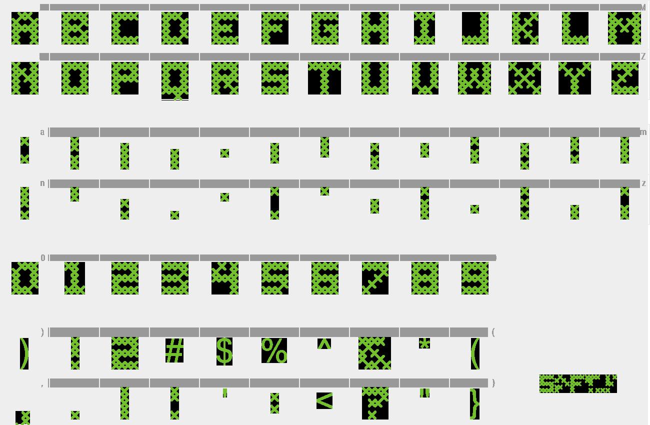 Download Free Font Cross Stitch Coarse