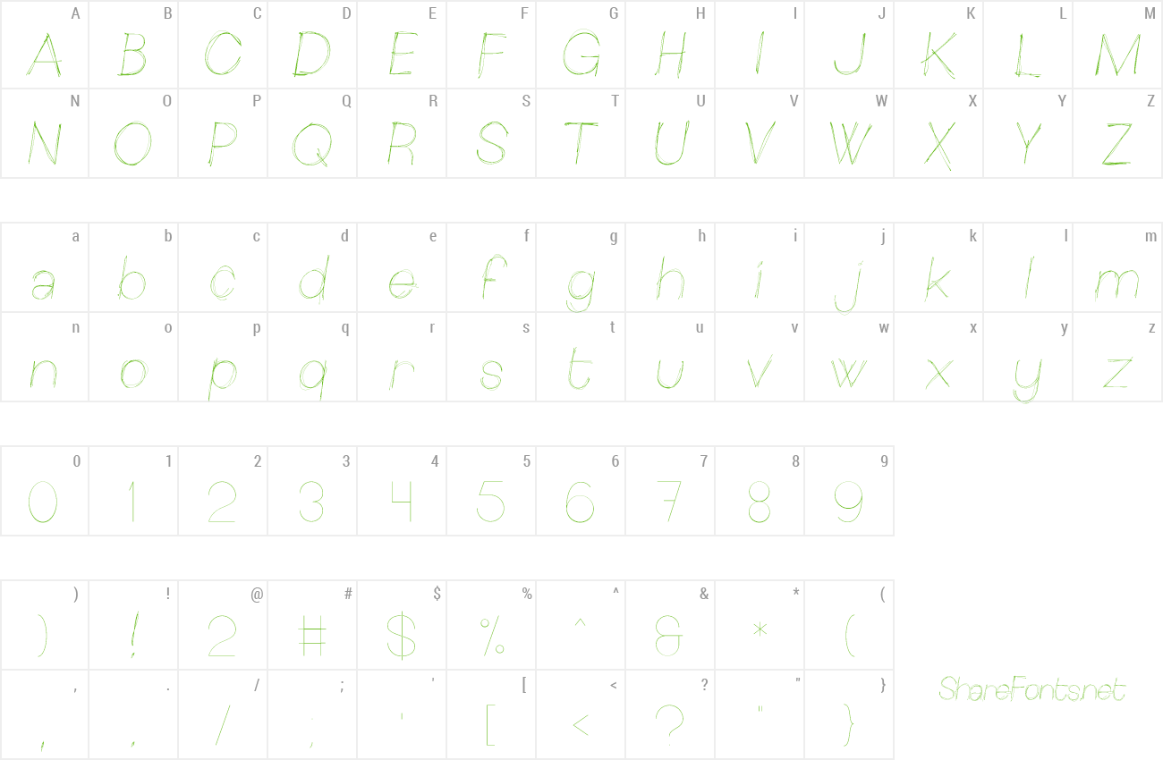 Font Sketchica preview