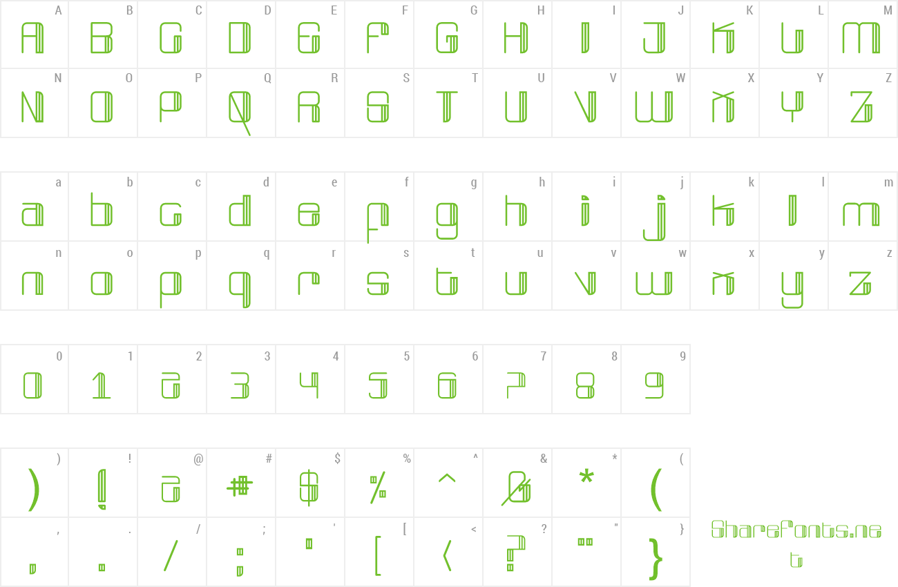 Font Broad preview