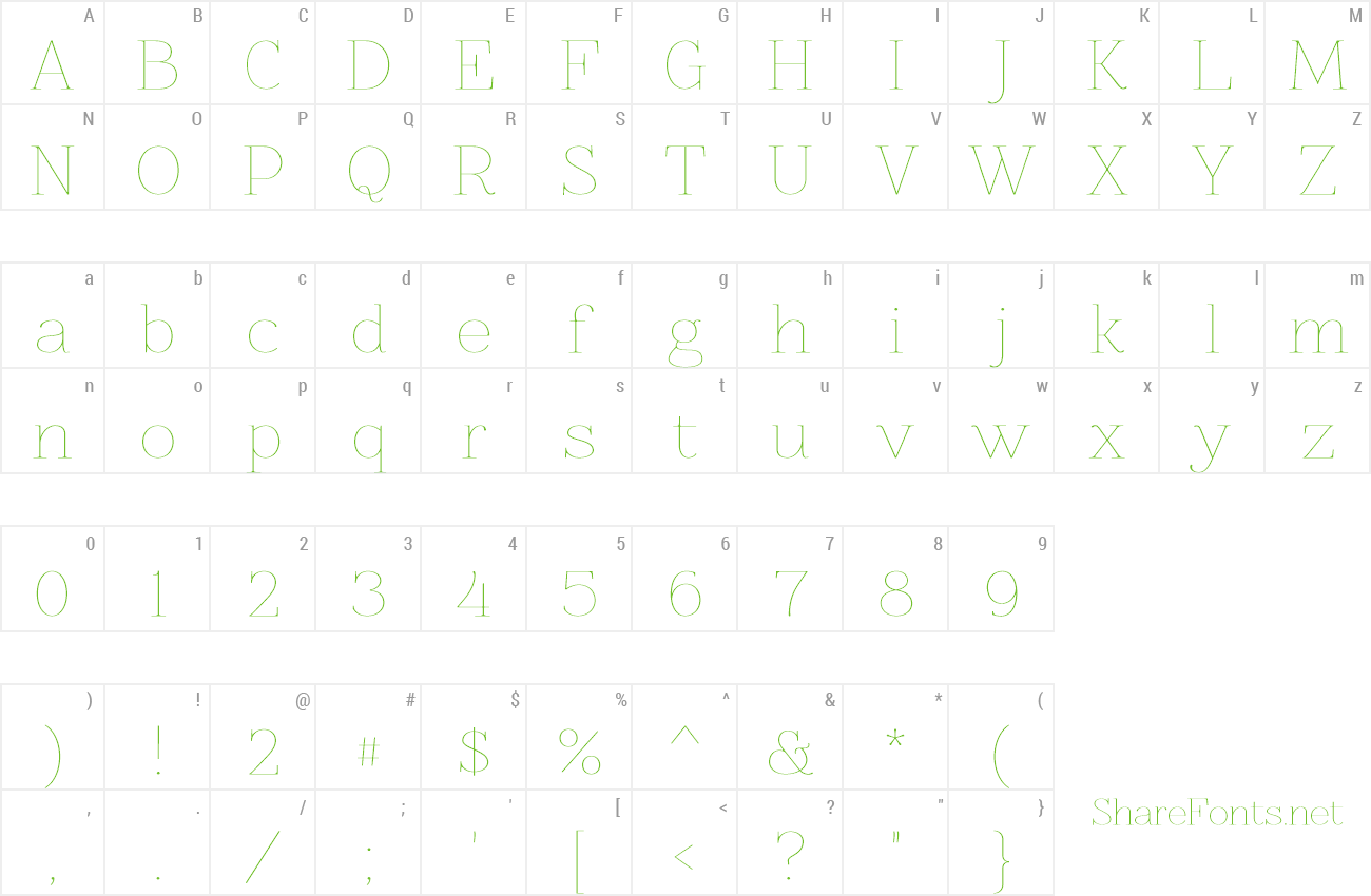 Font Znikomit preview