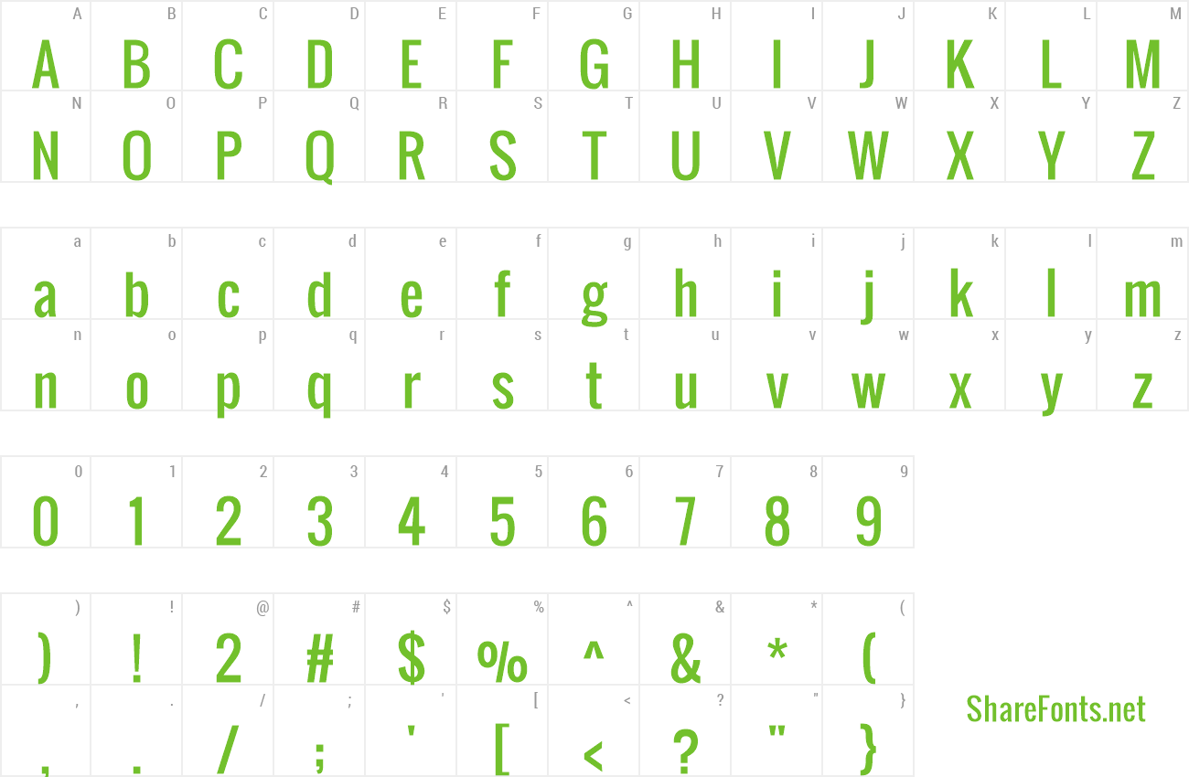 Download Free Font Oswald