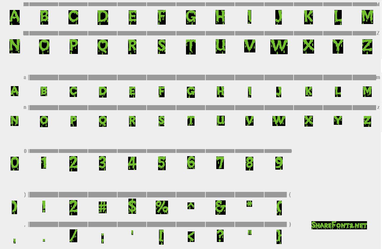 free download creepy font