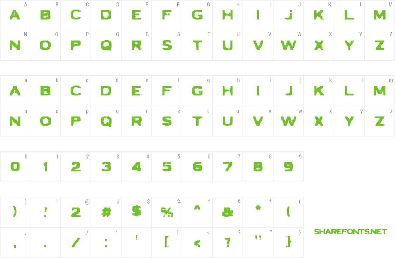 Font VTC Bad Luck preview