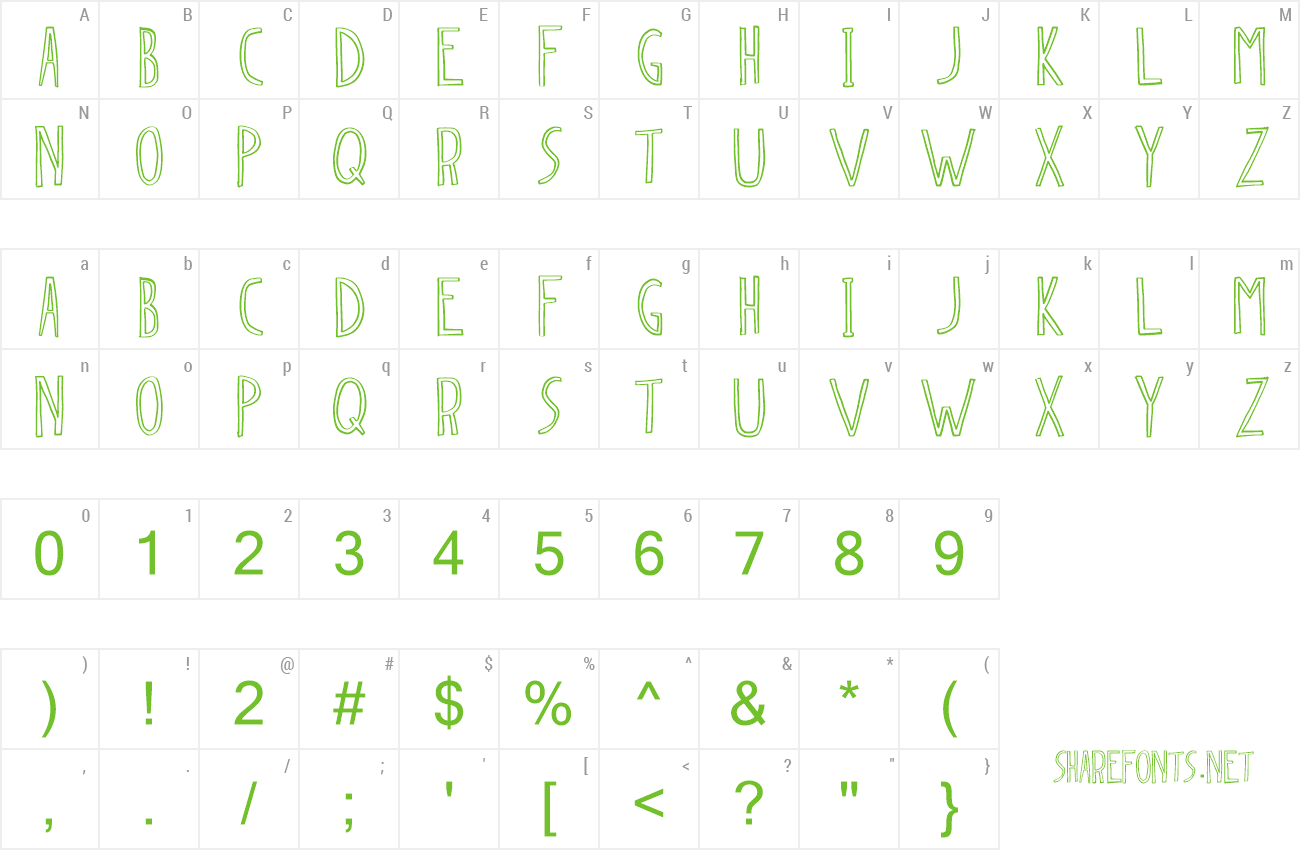 Font Dingleberry preview