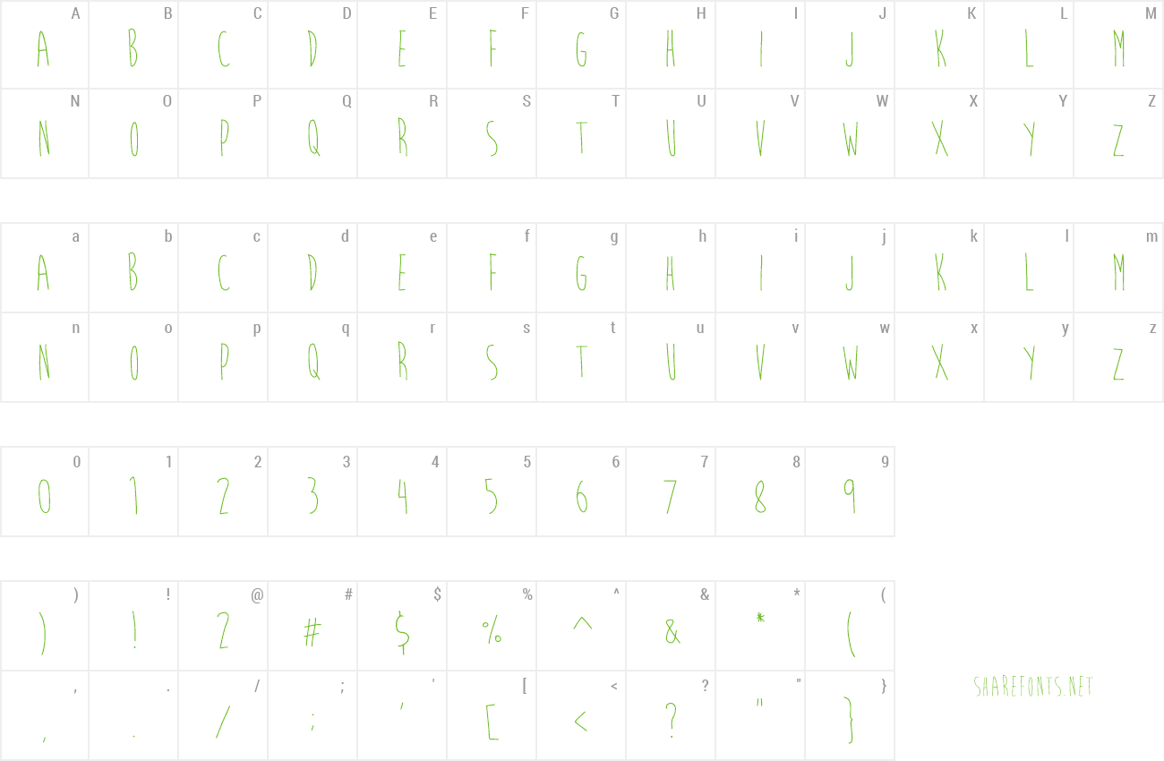 Font Brain Flower preview