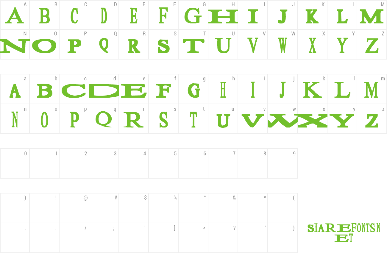 Font Sloopy preview