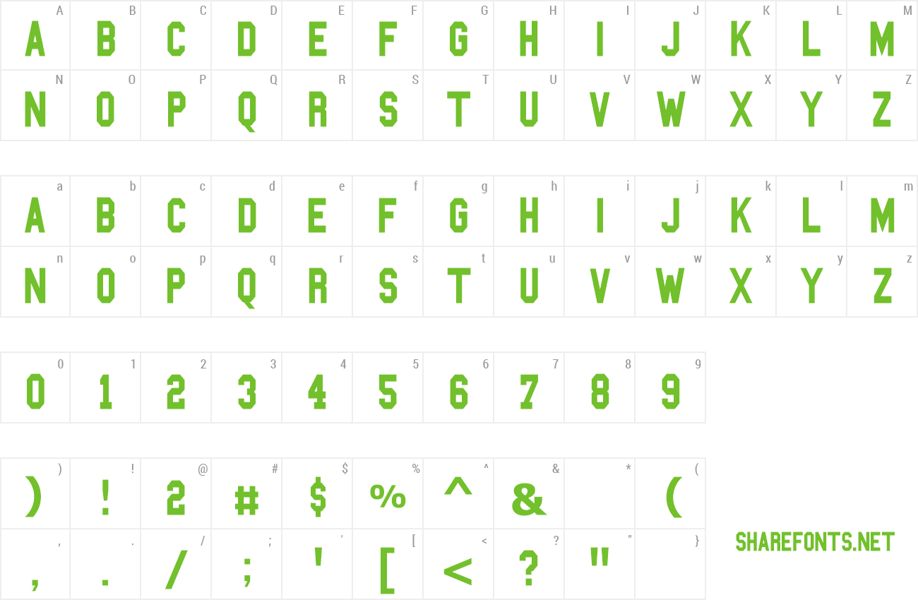 Font Blockbusted preview