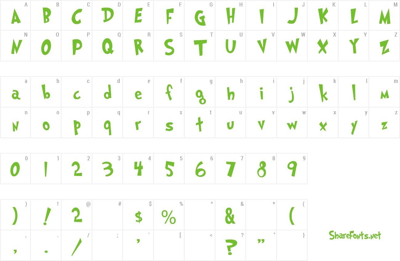 Font Grinched preview