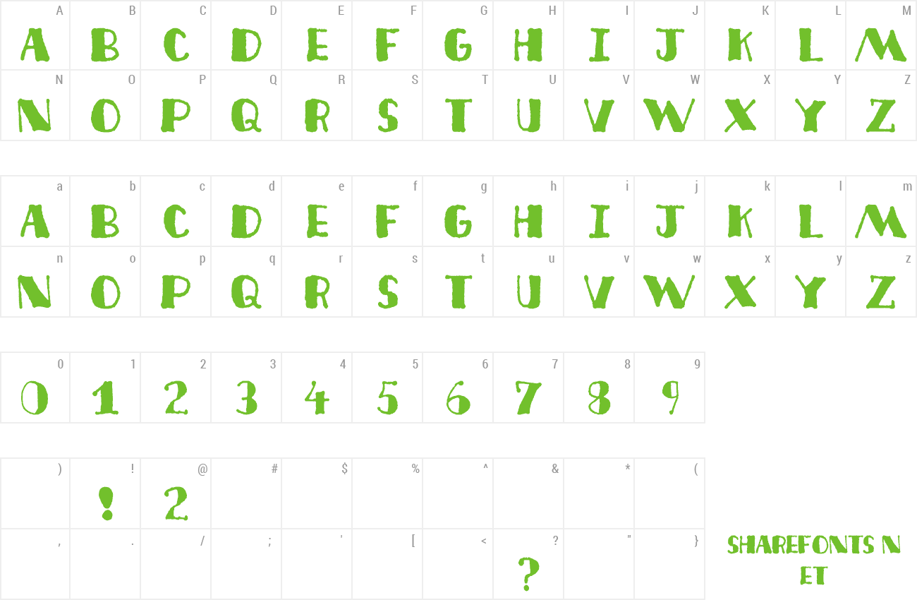 Font Deco Freehand preview