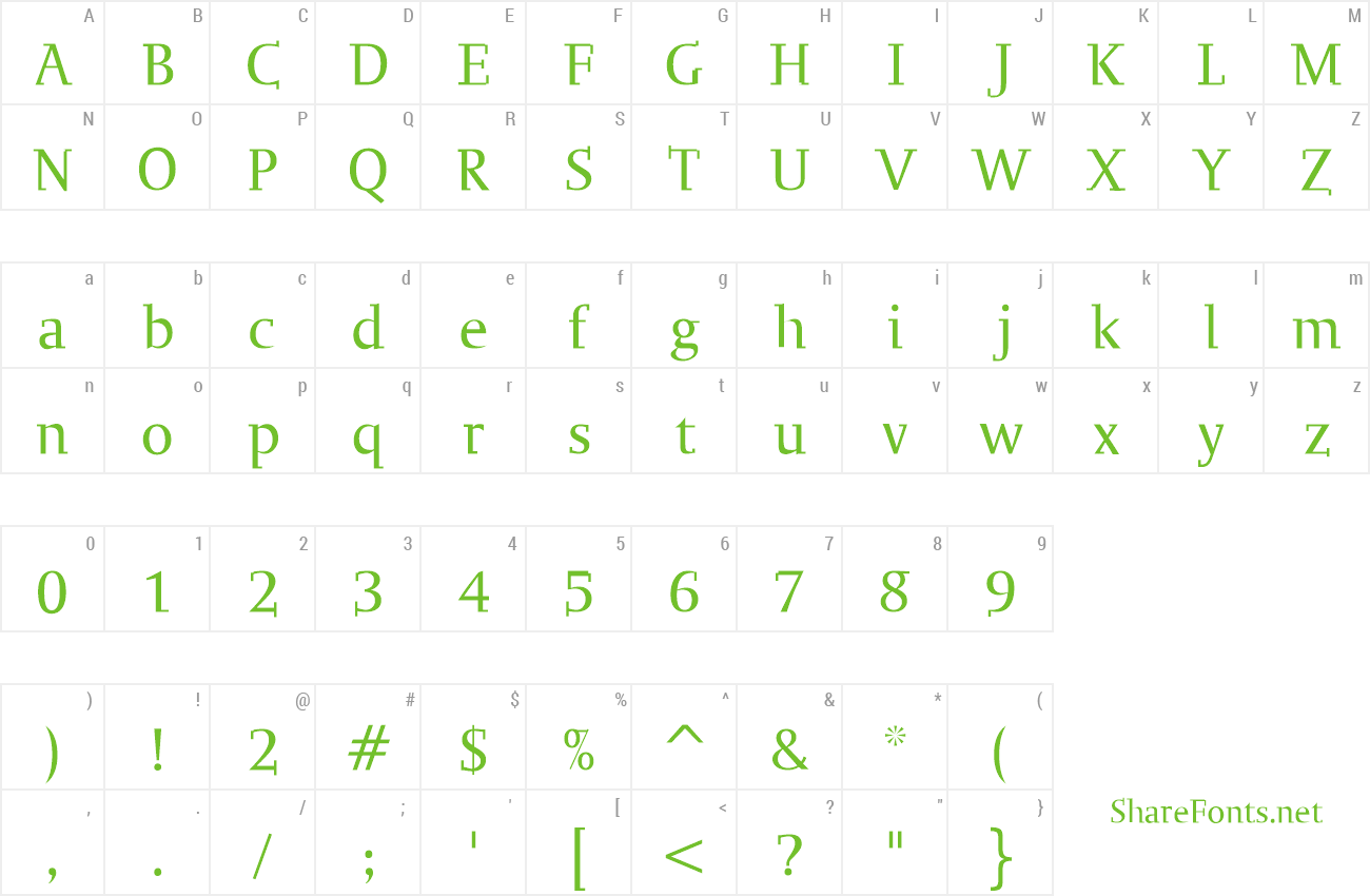 Font Ogirema Slab preview