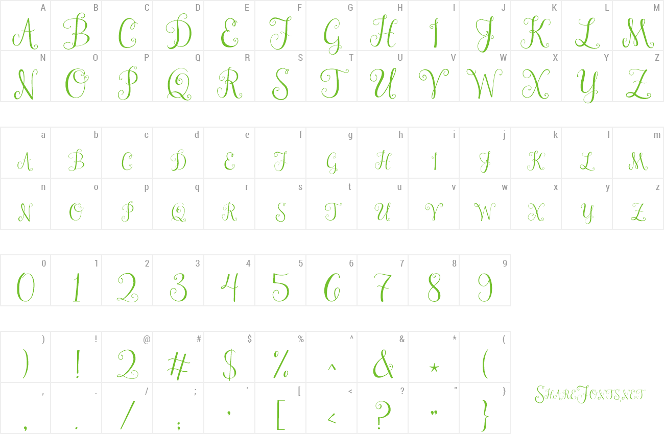Download Free Font Janda Stylish Monogram