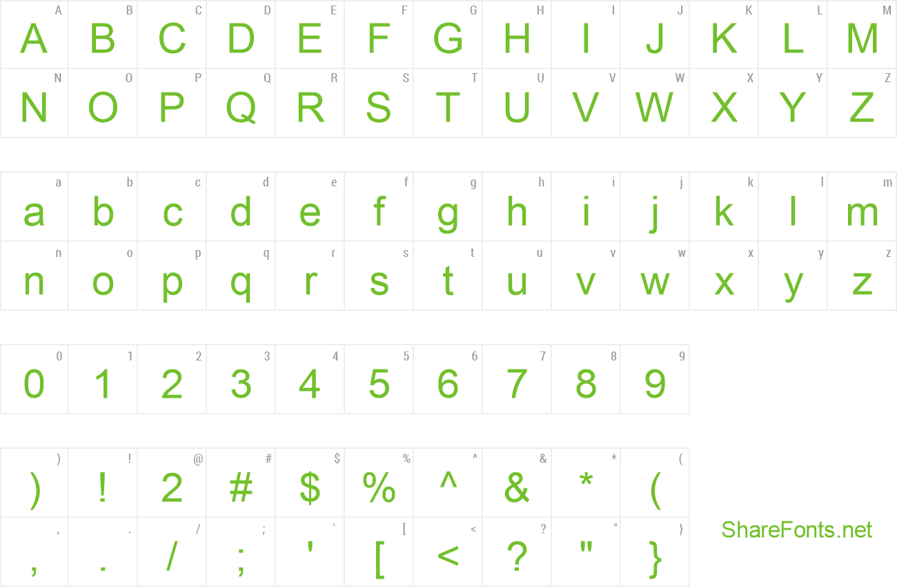 Font BPG Glaho Traditional Arial preview